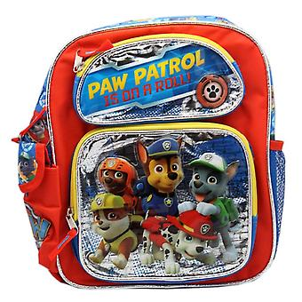 Rucsac-Paw Patrol-Silver/Red pe roll School bag noi 120188