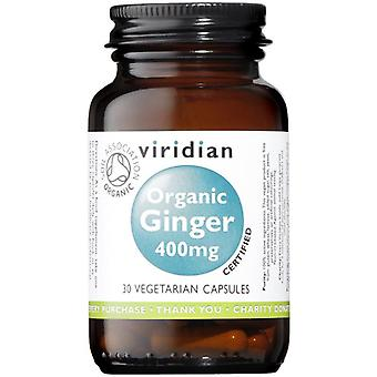Viridian Organic Ginger root 400mg veg CAPS 30 (950)