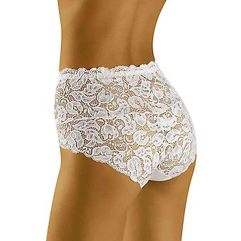 Wolbar Women's Teri Lace Full Panty Highwaist Brief