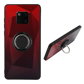 Back Cover Ring/magnet Aurora Huawei Mate 20 Pro red + Black