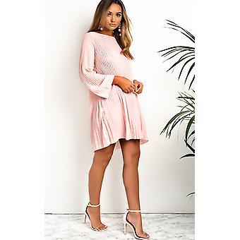 IKRUSH Womens Freja Crinkle Flare Shift Dress