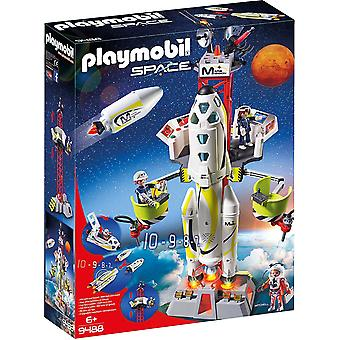 Playmobil 9488 Space Mission Rakete mit Launch Site Playset
