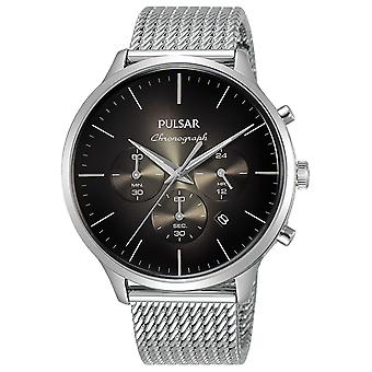 Pulse business quartz analog man watch with PT3A35X1 stainless steel bracelet