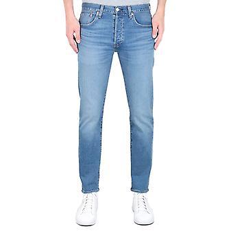 Levi's Premium 501 Slim Fit Tapered Light Blue Wash Denim Jeans