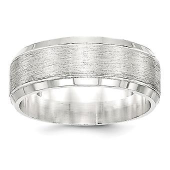 925 שטרלינג 8 מ מ מוברש טבעת הלהקה מפואר תכשיטים מתנות לנשים-גודל טבעת: 7 כדי 13.5