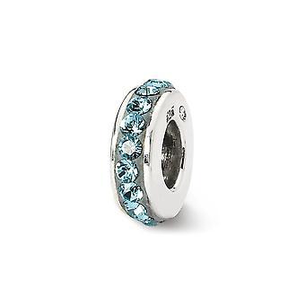 925 plata esterlina pulido reflexiones marzo de una sola fila cristal perlas encanto colgante collar joyería regalos para las mujeres