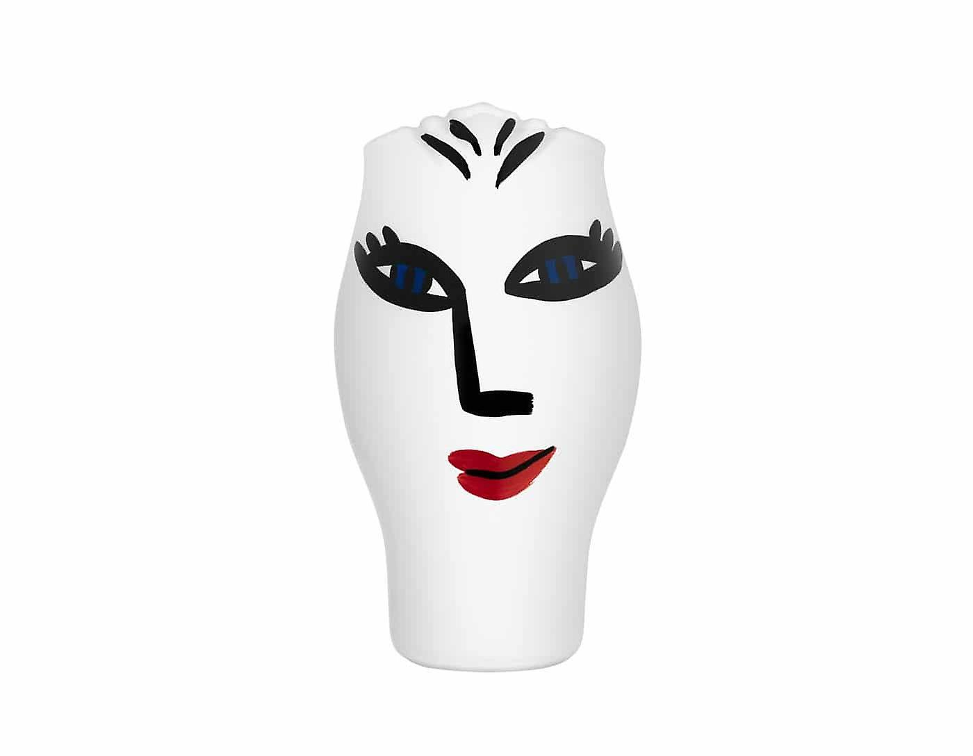 Kosta Boda-Open Minds-white vase Design Ulrica Hydman Vallien