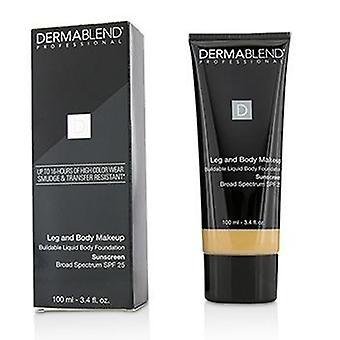 Leg and Body Make Up Buildable Liquid Body Foundation Sunscreen Broad Spectrum Spf 25 - #light Natural 20n - 100ml/3.4oz