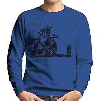 Krazy Kat Curled Up Men's Sweatshirt