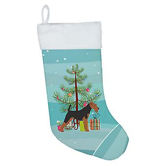 Airedale terrieri hyvää joulua puu joulu sukat