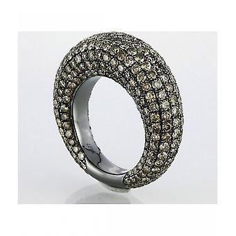 Diamond Ring Ring - 18K 750 White Gold - 6.75 ct.