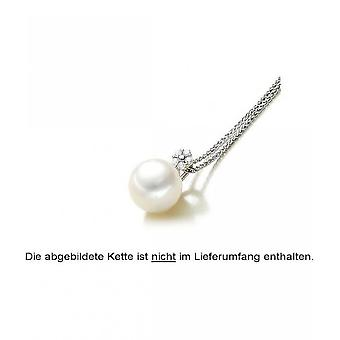 Luna-pärlor pärla hänge AkoyaPerle 8-8.5 mm 585/-vitt guld lysande 0,14 ct. 3001225