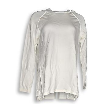 Martha Stewart Women's Sweater Raglan Sleeve Hi-Low Hem A301078