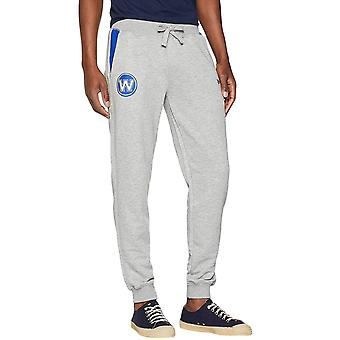 New Era Mens Golden State Warriors Tip Off NBA Basketball Jogging Bottoms Grey
