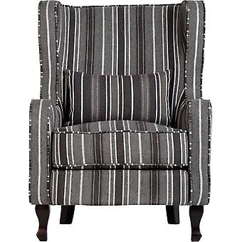 Sherborne Fireside Chair - Grey Stripe