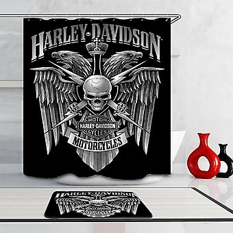 Harley Davidson Royal Skull Shower Curtain