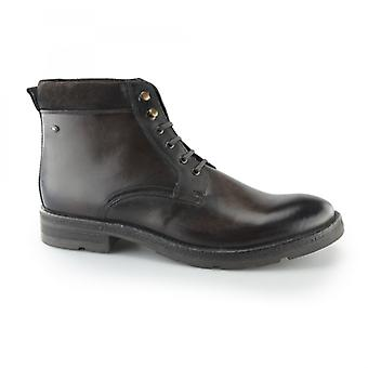 Base London Panzer menns Lær casual Boots brun