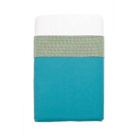 Mundo melocoton - aqua blue cot sheets (120x150)