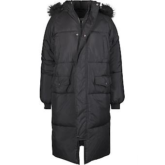 Urban Classics mujeres invierno abrigo oversize faux Fur Puffer Coat