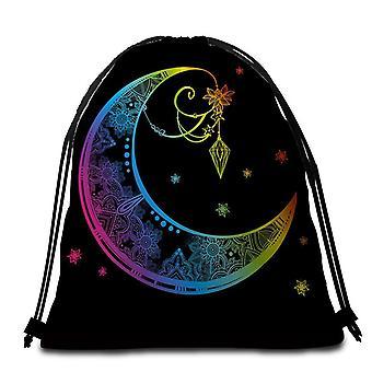 Colorful Persian Art Moon Beach Towel