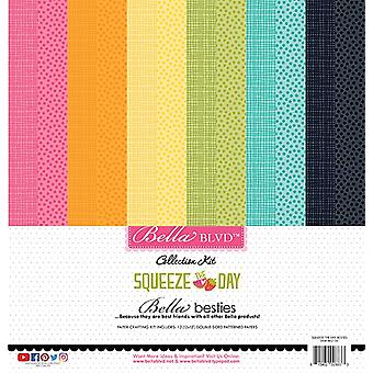 Bella Besties Double-Sided Paper Pad 12-quot;X12-quot; 12/Pkg-Squeeze The Day
