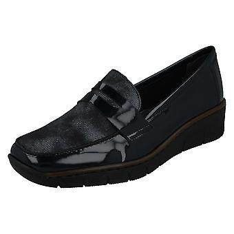 Damen Rieker Smart Loafer Style Schuhe 53732