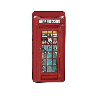 Red telephone box sugar free mints with flip lid 25g