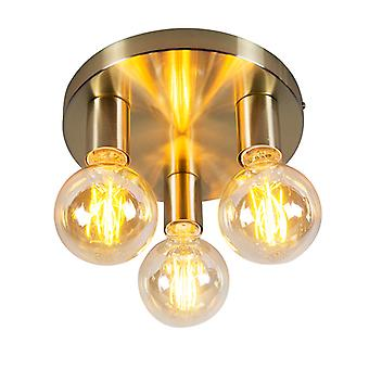 QAZQA Art Deco Ceiling Lamp Gold - Facil 3