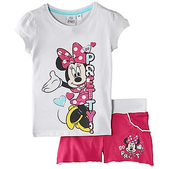 Ragazze Disney Minnie Mouse manica corta t-shirt & Shorts 2 Piece Set