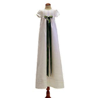 Dopklänning Grace Of Sweden, Kort ärm  Ljus Olivgrön Rosett.   Tr.a.k