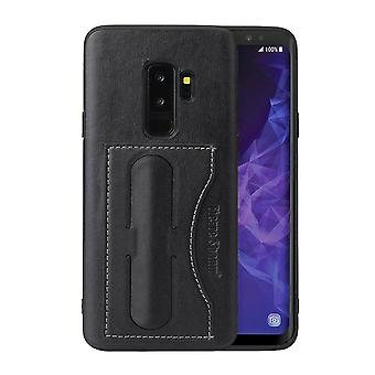 For Samsung Galaxy S9 Case Fierre Shann Luxury Durable Protective Cover,Black