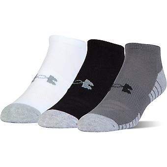 Under Armour Junior 3-Pack Heatgear No Show Socken Graphit