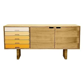 Fusion Living Scandi Style Oak And Yellow Sideboard
