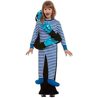 Alien Abduction Costume Child Blue