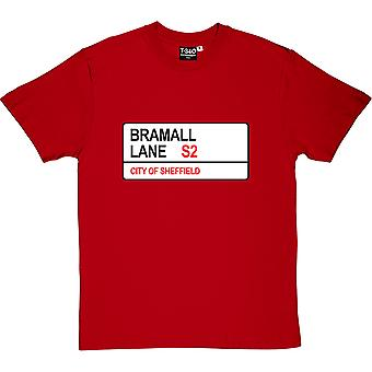 Sheffield United: Bramall Lane S2 Road Sign Red Men-apos;s T-Shirt