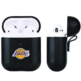 Los Angeles Lakers NBA Fan Brander Zwart Lederen AirPod Case