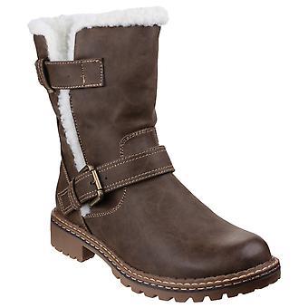 Divaz Womens/Ladies Nardo Pull On Fur Boots