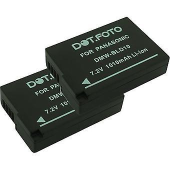 2 x Dot.Foto Panasonic DMW-BLD10, batterie DMW-BLD10E - 7.2V / 1010mAh