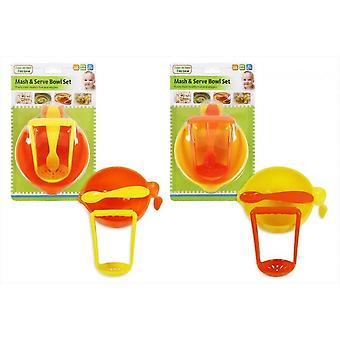 Five A Day Mash & Serve Bowl Set Both Colours Supplied