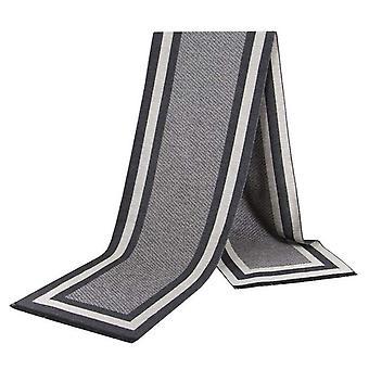 Blok & stripe patroon luxe bamboe mannen sjaal grijs