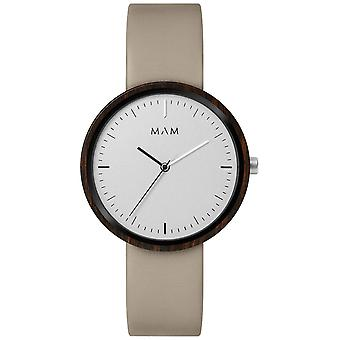 Mam Original japanese Quartz Analog Man Watch with PLANO Cowskin Bracelet 645