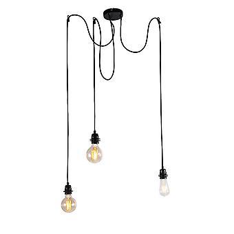 QA-QA Industrial lampada a sospensione nera - Cava 3
