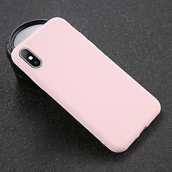 USLION iPhone X Ultraslim Silicone Case TPU Case Cover Pink