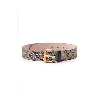 Gucci 434520k5o1t8692 Men's Bege Fabric Belt