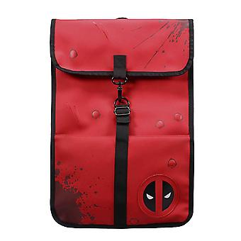 Deadpool Rygsæk Taske blod splatter Icon Logo nye Officielle Marvel Red