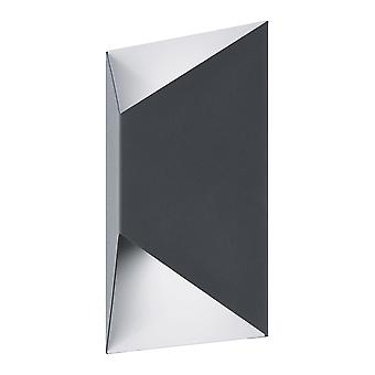 Eglo Predazzo - LED Outdoor Flush Wall Light Anthracite, Branco 6520 - EG93994