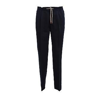 Brunello Cucinelli M291le1740c2517 Men's Blue Linen Pants