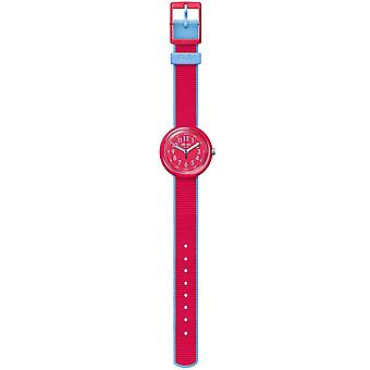 Flik Flak Fpnp045 Color Blast Red Textile Watch