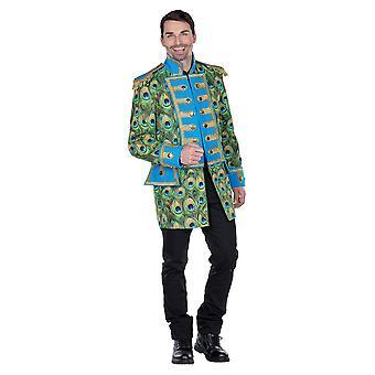 Peacock giacca mens costume guardia ringmaster Carnevale