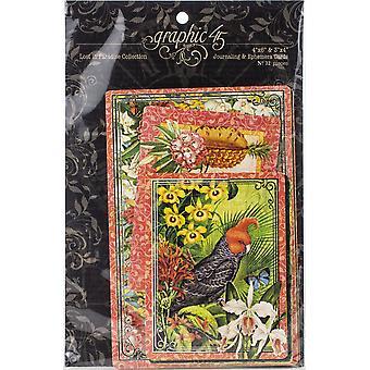 "Lost In Paradise Ephemera Cards - (16) 4""X6"" & (16) 3""X4"""